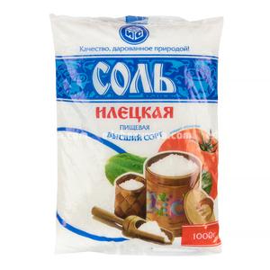 """Соль поваренная пищевая йодированная """"ИЛЕЦК"""", 1 кг.);"""