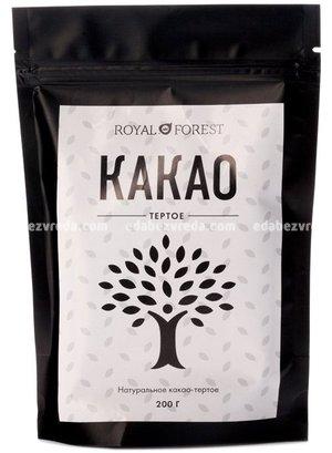 Какао тёртое натуральное Royal Forest, 200 г );