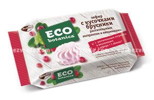 Зефир Eco-botanica с кусочками брусники, 250 г.
