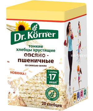 """Хлебцы Dr.Korner """"Овсяно-пшеничные"""" со смесью семян, 100 г);"""