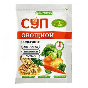 """Суп сухой быстрого приготовления """"Золотой Лён"""" овощной, 20 г.);"""