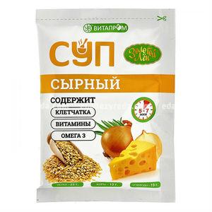 """Суп сухой быстрого приготовления """"Золотой Лён"""" сырный, 20 г.);"""