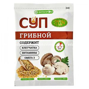 """Суп сухой быстрого приготовления """"Золотой Лён"""" грибной, 20 г.);"""
