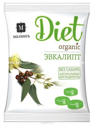 """Карамель """"МАЛВИКЪ. Diet"""" Эвкалипт, 50 г);"""