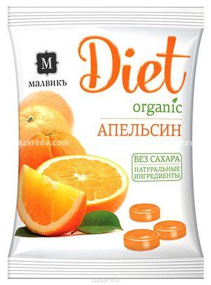 "Карамель ""МАЛВИКЪ. Diet"" Апельсин, 50 г.);"