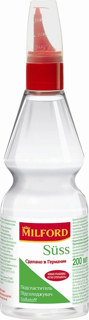 Заменитель сахара Milford Suss, 200 мл.