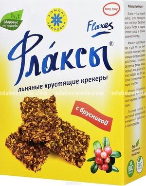 """Флаксы """"Компас Здоровья"""" с Брусникой, 150 г);"""