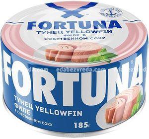 Тунец Fortuna Филе в собственном соку, 185г);