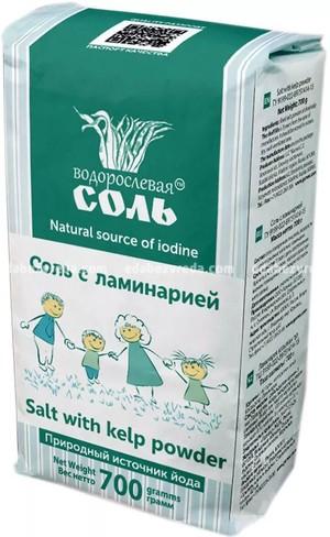 """Соль с ламинарией """"Водорослевая соль"""", 700 г.);"""