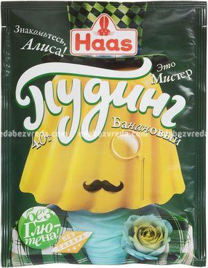 Пудинг банановый HAAS, 40 г.