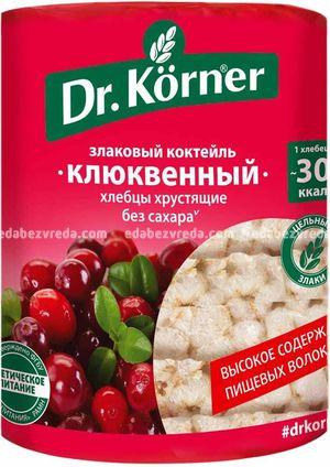 """Хлебцы Dr.Korner """"Злаковый коктейль"""" Клюквенный, 100 г);"""