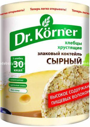 """Хлебцы Dr.Korner """"Злаковый коктейль"""" Сырный, 100 г);"""