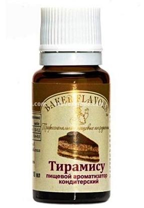 Ароматизатор пищевой Baker Flavors Тирамису, 10 мл);