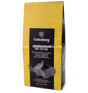 Чай чёрный листовой Gutenberg Дворцовый Шу Пуэр, 100 г.);