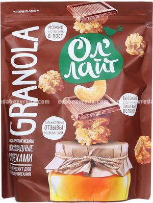 """Гранола медовая """"Ол'Лайт"""" шоколадная с орехами, 280 г.);"""