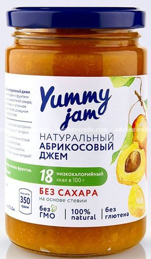 Фруктовый джем Yummy Абрикосовый, 330 г.);