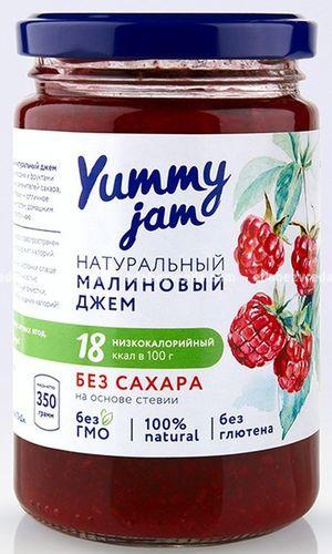Фруктовый джем Yummy Jam Малиновый, 330 г);