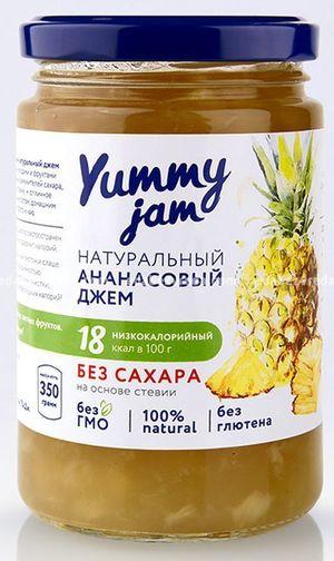 Фруктовый джем Yummy Jam Ананасовый, 330 г);