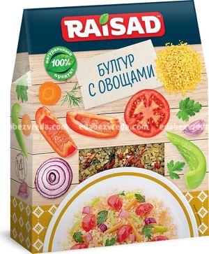 Булгур с овощами RAISAD, 200 г.);