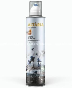 Масло-спрей льняное нерафинированное ALTARIA, 250 мл.);