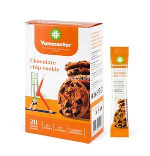 Заменитель сахара Yummaster Печенье с шоколадной крошкой, 20*2 г.);