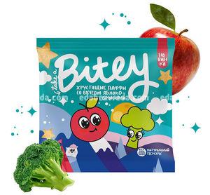 Мультизлаковые паффы Bitey со вкусом яблоко-брокколи, 20 г.);