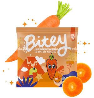 Мультизлаковые паффы Bitey со вкусом моркови, 20 г.);
