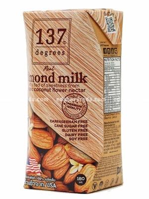 Миндальное молоко 137 Degrees с нектаром кокосовых соцветий, 180 мл);