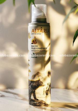 Масло-спрей подсолнечное нерафинированное ALTARIA, 250 мл.);