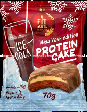Протеиновое печенье Fit Kit Protein Cake Ледяная кола, 70 г.);