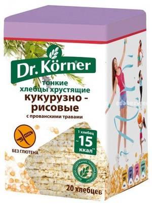 """Хлебцы Dr.Korner """"Кукурузно-рисовые"""" с прованскими травами, 100 г);"""