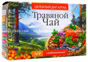 """Травяной чай """"Целебный дар Алтая"""" №1 Слабительный, 20 ф.п.);"""