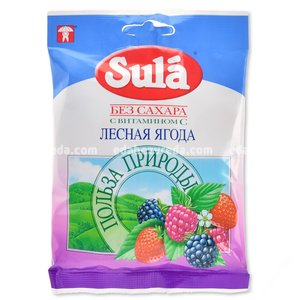 Леденцы без сахара Sula Лесная ягода, 60 г.);