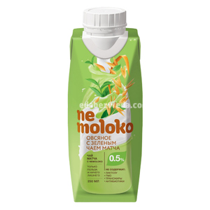 Напиток овсяный с зелёным чаем Матча Nemoloko, 250 мл.);