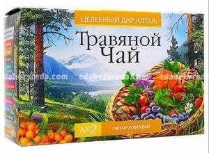 """Травяной чай """"Целебный дар Алтая"""" №2 Мочегонный, 20 ф.п.);"""