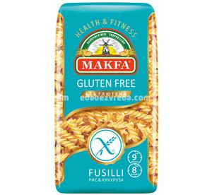 Макароны безглютеновые MAKFA Fusilli (Фузилли), 300 г.);