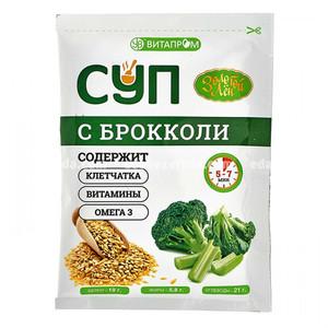 """Суп сухой быстрого приготовления """"Золотой Лён"""" с брокколи, 20 г.);"""