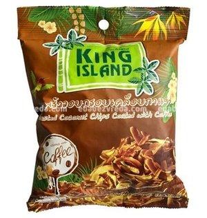 Кокосовые чипсы King Island в кофейной глазури, 40 г);