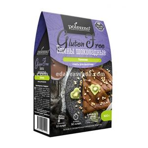 Смесь для выпечки POLEZZNO Блины шоколадные, 300 г.);