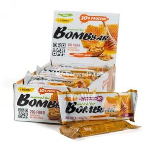 Батончик протеиновый BOMBBAR Грецкий орех с мёдом, 60 г);