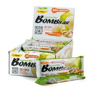 Батончик протеиновый BOMBBAR Фисташковый пломбир, 60 г);