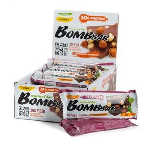Батончик протеиновый BOMBBAR Шоколад с фундуком, 60 г);