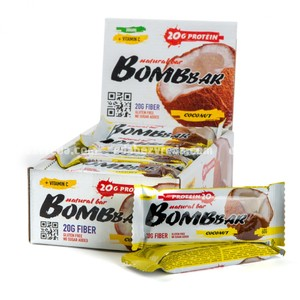 Батончик протеиновый BOMBBAR Кокос, 60 г);