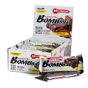Батончик протеиновый BOMBBAR Шоколад, 60 г);