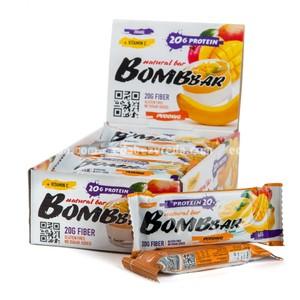 Батончик протеиновый BOMBBAR Банановый пудинг с манго, 60 г);