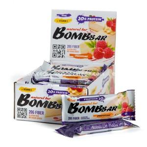 Батончик протеиновый BOMBBAR Малиновый чизкейк, 60 г);