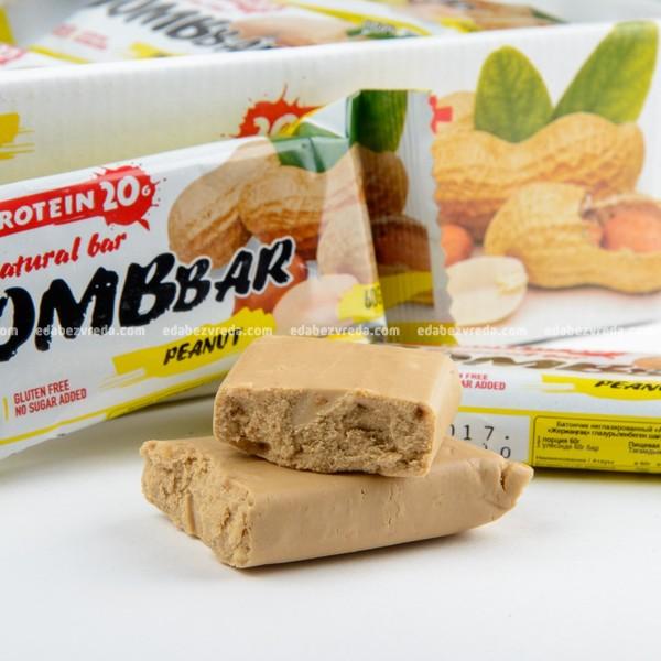 Батончик протеиновый BOMBBAR Арахис, 60 г