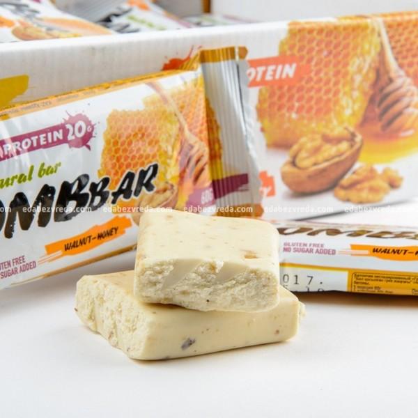 Батончик протеиновый BOMBBAR Грецкий орех с мёдом, 60 г