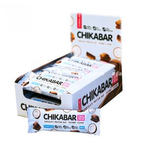 Батончик протеиновый в глазури Chikabar Chikalab Кокос, 60 г.