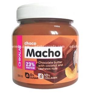 Паста шоколадная с кокосом и кешью CHOCO MACHO CHIKALAB, 250 г.